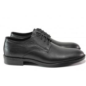 Мъжки обувки - естествена кожа - черни - EO-14551