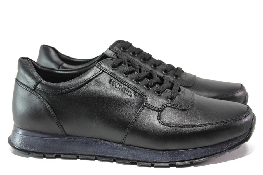 Мъжки обувки - естествена кожа - черни - EO-14548