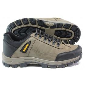 Мъжки обувки - висококачествена еко-кожа - бежови - EO-14594