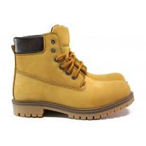 Мъжки боти - естествен набук - жълти - EO-14973