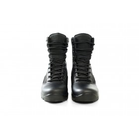 Юношески боти - естествена кожа - черни - EO-15048