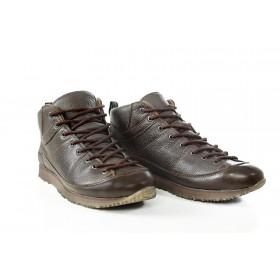 Спортни мъжки обувки - естествена кожа - кафяви - EO-15006