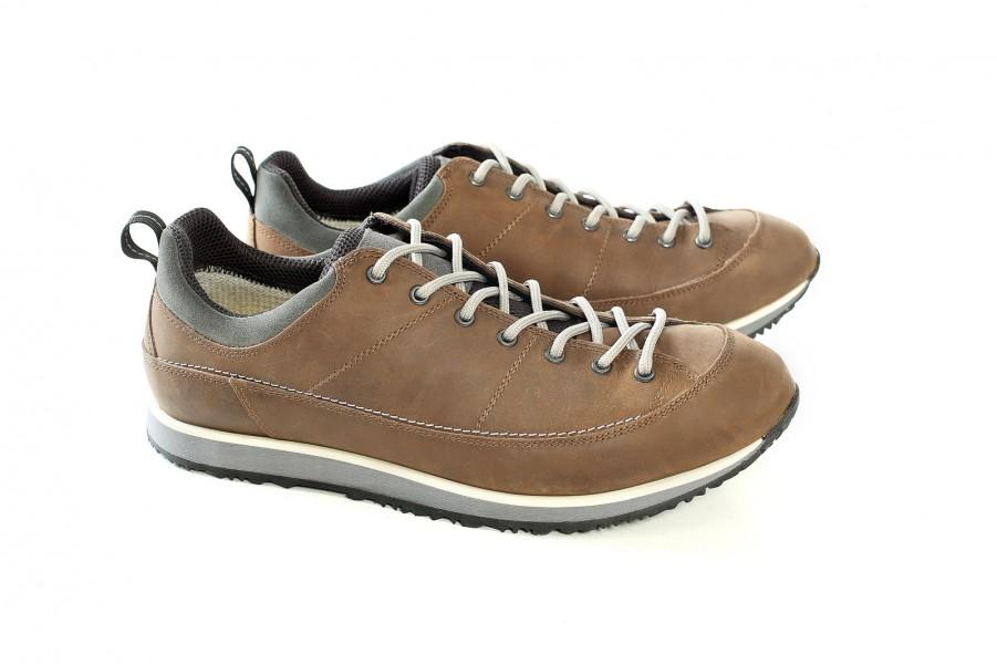 Спортни мъжки обувки - естествена кожа - светлокафяв - EO-15005