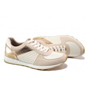 Равни дамски обувки - висококачествена еко-кожа - розови - EO-13513