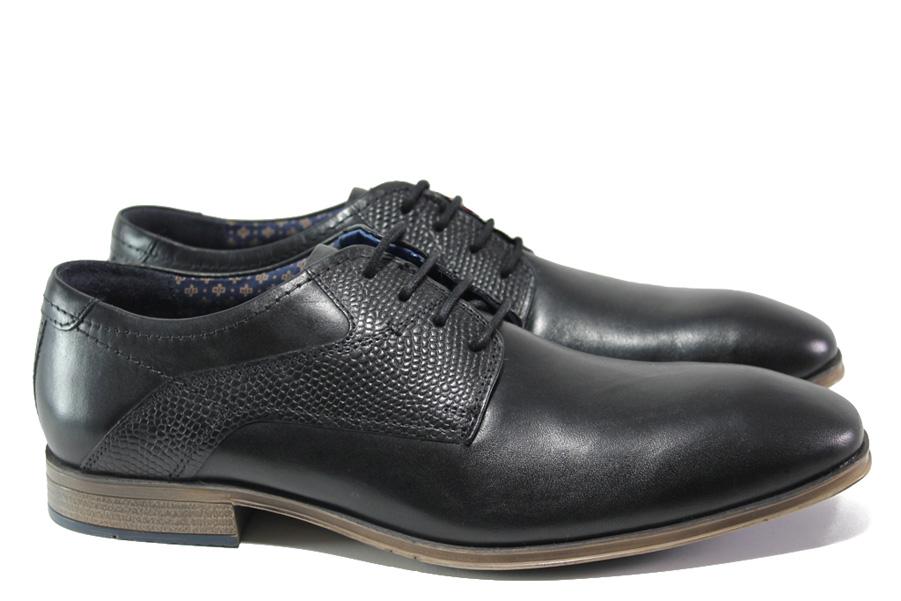 Мъжки обувки - естествена кожа - черни - EO-13530