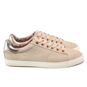 Равни дамски обувки - висококачествена еко-кожа - розови - EO-13595