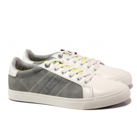 Мъжки обувки - висококачествен текстилен материал - сиви - EO-13688