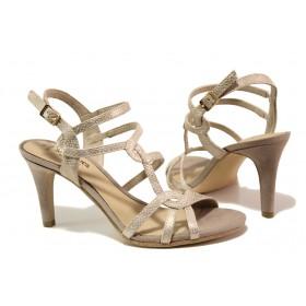 Дамски сандали - висококачествена еко-кожа - розови - EO-13830