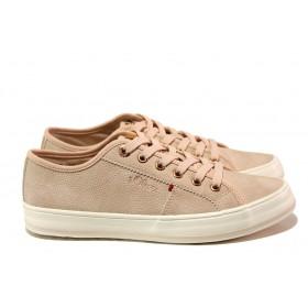 Равни дамски обувки - висококачествена еко-кожа - розови - EO-13792