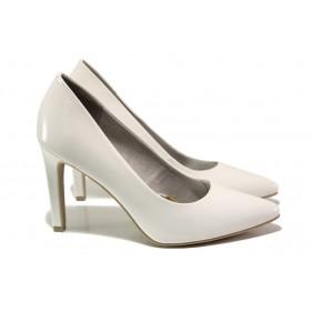 Дамски обувки на висок ток - еко кожа-лак - бели - EO-13771