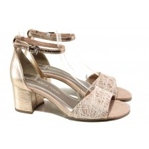 Дамски сандали - висококачествена еко-кожа - розови - EO-13866