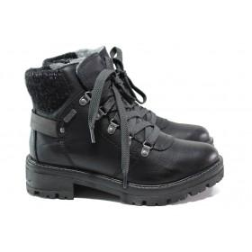 Дамски боти - висококачествена еко-кожа - черни - EO-14438