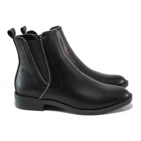 Дамски боти - висококачествена еко-кожа - черни - EO-14471