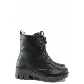 Дамски боти - висококачествена еко-кожа - черни - EO-14673