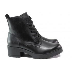 Дамски боти - висококачествена еко-кожа - черни - EO-14677