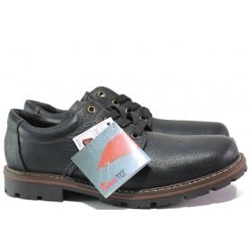 Мъжки обувки - естествена кожа - черни - EO-14763