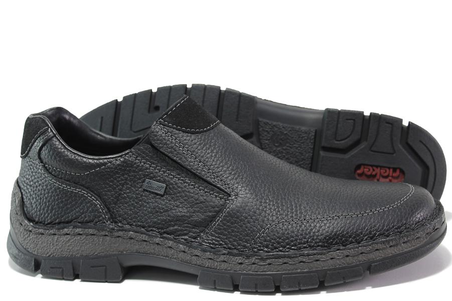 Мъжки обувки - естествена кожа - черни - EO-14788