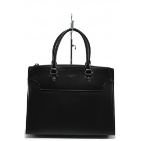 Дамска чанта - висококачествена еко-кожа - черни - EO-15143