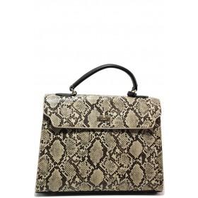 Дамска чанта - висококачествена еко-кожа - бежови - EO-15147