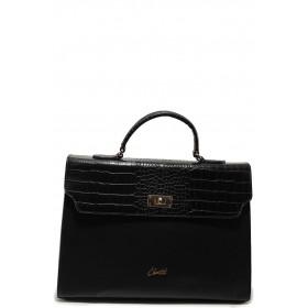 Дамска чанта - висококачествена еко-кожа - черни - EO-15148