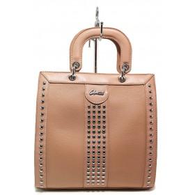 Дамска чанта - висококачествена еко-кожа - розови - EO-15128