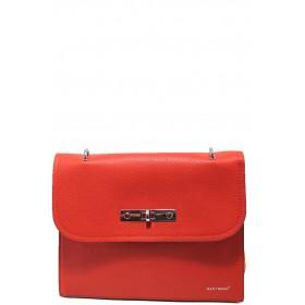 Дамска чанта - висококачествена еко-кожа - червени - EO-15132
