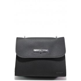 Дамска чанта - висококачествена еко-кожа - черни - EO-15130