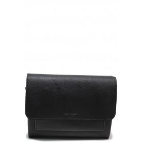 Дамска чанта - висококачествена еко-кожа - черни - EO-15133
