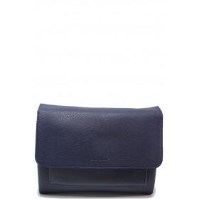 Дамска чанта - висококачествена еко-кожа - сини - EO-15135