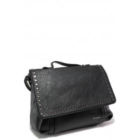 Дамска чанта - висококачествена еко-кожа - черни - EO-15138
