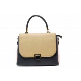 Дамска чанта - висококачествена еко-кожа - тъмносин - EO-15513