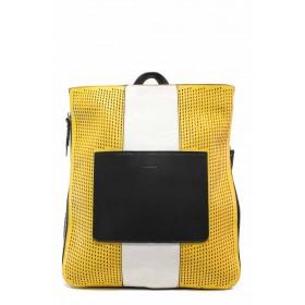 Дамска чанта - висококачествена еко-кожа - жълти - EO-15508