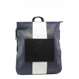 Дамска чанта - висококачествена еко-кожа - сини - EO-15509