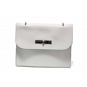 Дамска чанта - висококачествена еко-кожа - бели - EO-15501