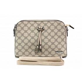 Дамска чанта - висококачествена еко-кожа - бежови - EO-15499