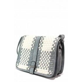 Дамска чанта - висококачествена еко-кожа - сини - EO-15496