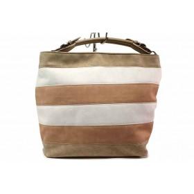 Дамска чанта - висококачествена еко-кожа - бежови - EO-16584
