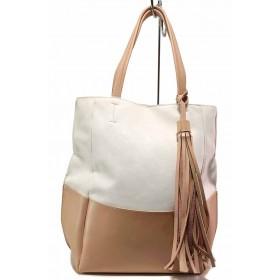 Дамска чанта - висококачествена еко-кожа - розови - EO-16587