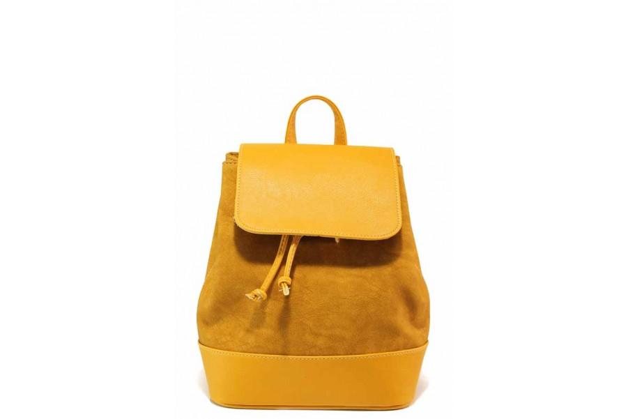 Раница - висококачествена еко-кожа - жълти - EO-16595