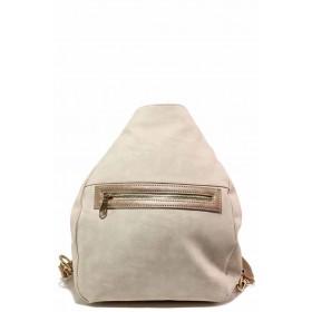 Дамска чанта - висококачествена еко-кожа - бежови - EO-16602