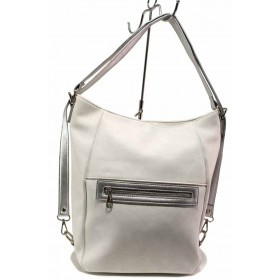Дамска чанта - висококачествена еко-кожа - бели - EO-16605