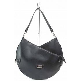 Дамска чанта - висококачествена еко-кожа - черни - EO-17494