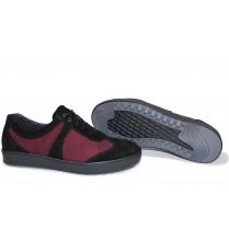 Мъжки обувки - естествен набук - бордо - EO-15364