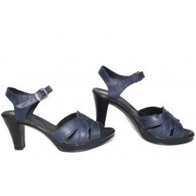 Дамски сандали - естествена кожа - сини - EO-15716