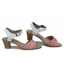Дамски сандали - естествена кожа - розови - EO-16112