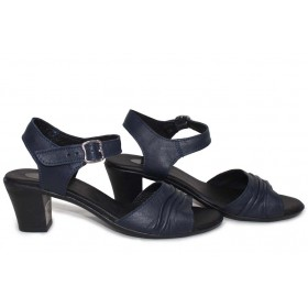 Дамски сандали - естествена кожа - сини - EO-15721