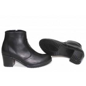Дамски боти - естествена кожа - черни - EO-16872
