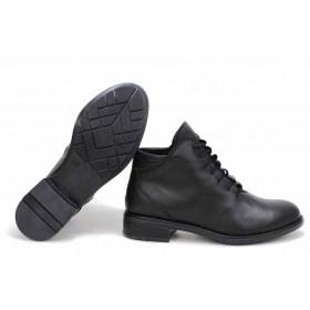 Дамски боти - естествена кожа - черни - EO-16881