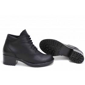Дамски боти - естествена кожа - черни - EO-16875