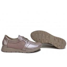Равни дамски обувки - естествена кожа - розови - EO-15651